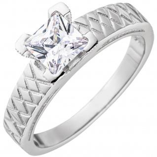 Damen Ring 925 Sterling Silber mit Zirkonia Silberring - Vorschau