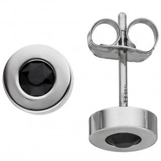 Ohrstecker rund aus Edelstahl mit Kristallsteinen Ohrringe 5, 8 mm