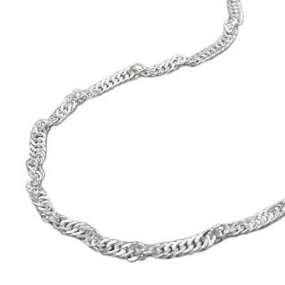 Fußkette 2, 2mm Singapur diamantiert Silber 925 25cm