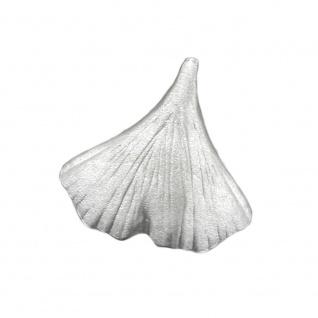 Anhänger Ginkgoblatt 9mm matt Silber 925
