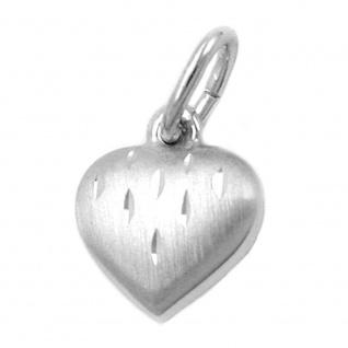 Anhänger 9x8mm Herz diamantiert rhodiniert Silber 925