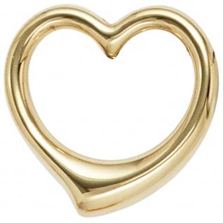 Kinder Anhänger Herz Schwingherz 333 Gold Gelbgold Herzanhänger Kinderanhänger
