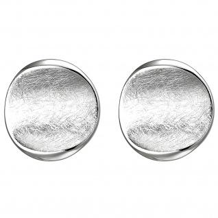 Ohrstecker 925 Sterling Silber eismatt Ohrringe Silberohrringe