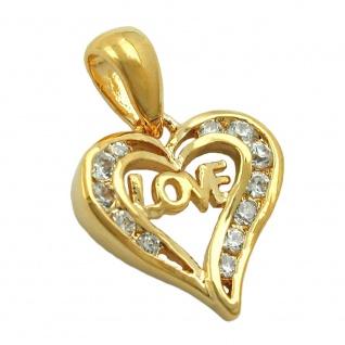 Anhänger 15x15mm Herz vergoldet 3 Mikron