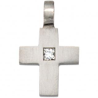 Anhänger Kreuz 950 Platin 1 Diamant 0, 06ct. Kreuzanhänger Platinkreuz