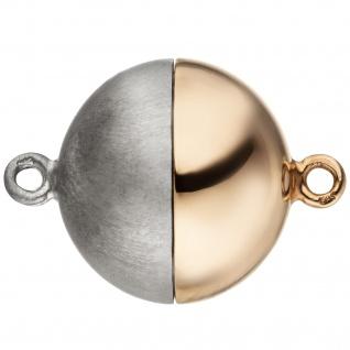 Kettenschließe Magnet-Schließe 585 Gold Rotgold Weißgold bicolor mattiert