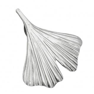 Anhänger 20x20mm Ginkgoblatt Silber glänzend 925