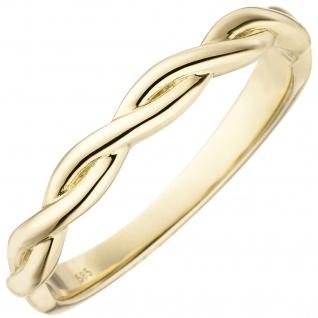 Damen Ring geflochten 585 Gold Gelbgold Goldring
