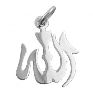 Anhänger 18x15mm Allah glänzend Silber 925