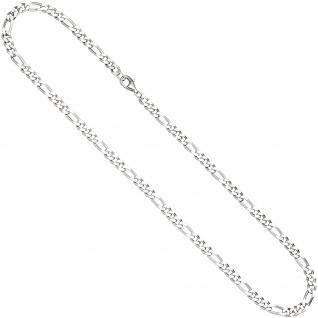 Figarokette 925 Silber diamantiert 50 cm Kette Halskette Silberkette Karabiner - Vorschau 2