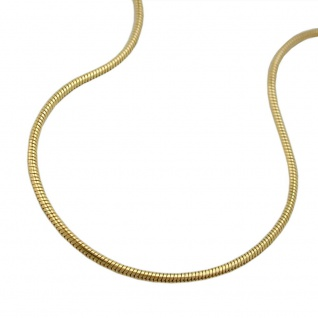Kette 0, 7mm Schlange rund 14Kt GOLD 45cm