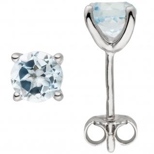 Ohrstecker 925 Silber 2 Blautopase hellblau blau Ohrringe