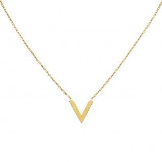 Collier Halskette Edelstahl goldfarben beschichtet 45 cm Kette