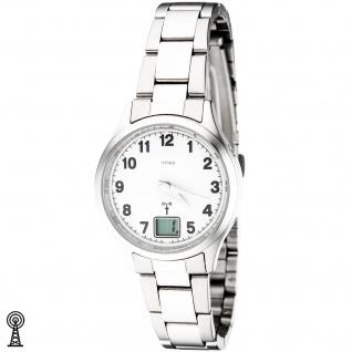 JOBO Damen Armbanduhr Edelstahl Datum Mineralglas Damenuhr