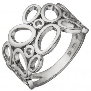 Damen Ring breit 925 Sterling Silber Silberring