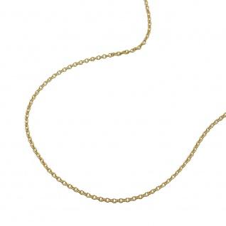 Kette 0, 7mm dünne Ankerkette 9Kt GOLD 38cm