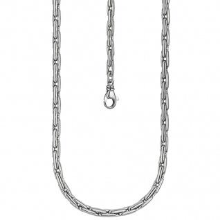 Halskette Kette 925 Sterling Silber rhodiniert 45 cm Silberkette Karabiner - Vorschau 2
