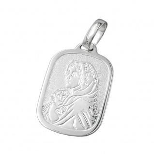 Anhänger 21x15mm Maria mit Jesuskind Silber 925