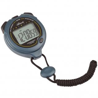 Atlanta 0908 Stoppuhr digital Uhr Timer mit Weckfunktion Zwischenzeit Lap