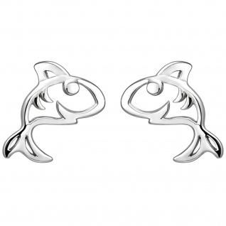 Kinder Ohrstecker Hai 925 Sterling Silber Ohrringe Kinderohrringe