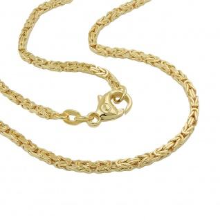 Armband 2x2mm Königskette 14Kt GOLD 19cm