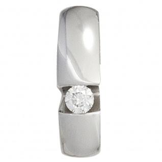 Anhänger 585 Gold Weißgold 1 Diamant Brillant 0, 10ct. Weißgoldanhänger