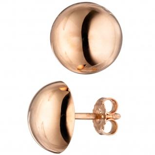 Ohrstecker rund 925 Sterling Silber rotgold vergoldet Ohrringe