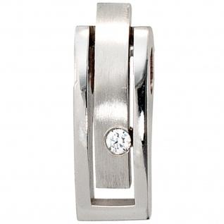 Anhänger 950 Platin matt 1 Diamant Brillant 0, 10ct. Platinanhänger