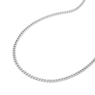 Kette 1, 2mm Flachpanzerkette diamantiert Silber 925 36cm