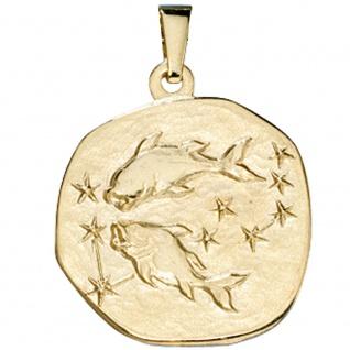 Anhänger Sternzeichen Fische 333 Gold Gelbgold Sternzeichenanhänger