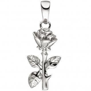 Anhänger Rose 925 Sterling Silber Silberanhänger - Vorschau