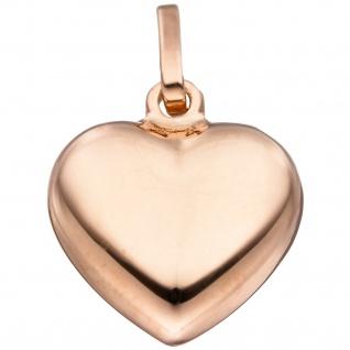 Anhänger Herz 925 Silber rotgold vergoldet Herzanhänger