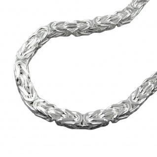 Armband 6mm Königskette vierkant glänzend Silber 925 23cm