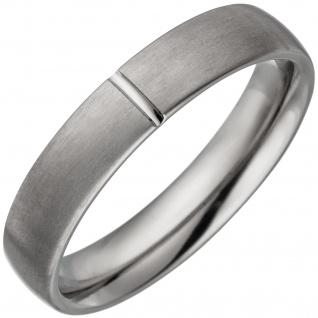 Partner Ring aus Titan matt Partnerring Titanring