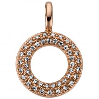 Anhänger 585 Gold Rotgold 46 Diamanten Brillanten 0, 15 ct.