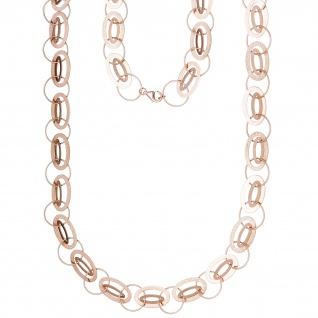Halskette Kette 925 Silber rotgold vergoldet 80 cm Karabiner