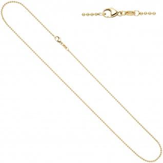 Kugelkette 585 Gelbgold 1, 5 mm 45 cm Gold Kette Halskette Goldkette Karabiner