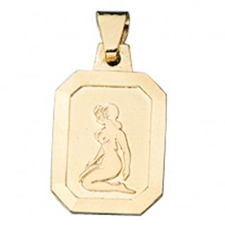 Anhänger Sternzeichen Jungfrau 333 Gold Gelbgold matt Sternzeichenanhänger