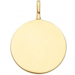 Anhänger Gravur Gravurplatte 925 Sterling Silber gold vergoldet - Vorschau