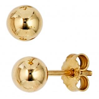 Ohrstecker Kugel 333 Gold Gelbgold Ohrringe Kugelohrstecker Durchmesser 5 mm