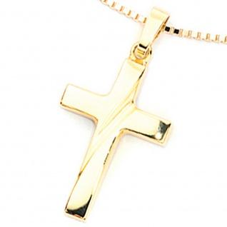 Anhänger Kreuz 333 Gold Gelbgold Kreuzanhänger Goldkreuz - Vorschau 2