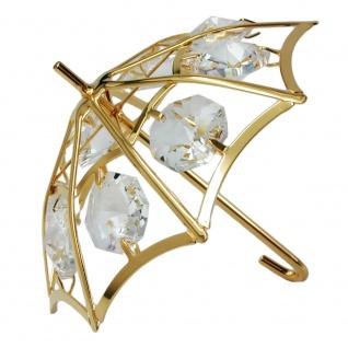 Regenschirm 66x75mm mit Glas-Steinen