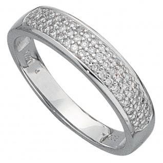 Damen Ring 585 Gold Weißgold 50 Diamanten Brillanten 0, 25ct. Weißgoldring - Vorschau 2
