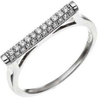 Damen Ring aus 925 Sterling Silber mit 35 Zirkonia Silberring - Vorschau