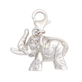 Einhänger Charm Elefant 925 Sterling Silber rhodiniert