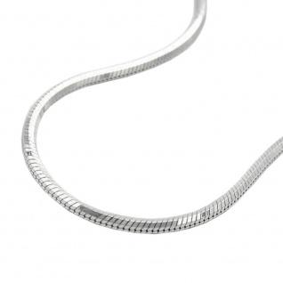Kette 1, 3mm Schlangenkette fünfkantig diamantiert Silber 925 42cm
