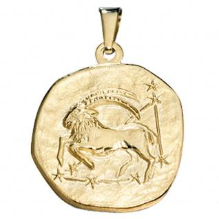 Anhänger Sternzeichen Steinbock 333 Gold Gelbgold Sternzeichenanhänger