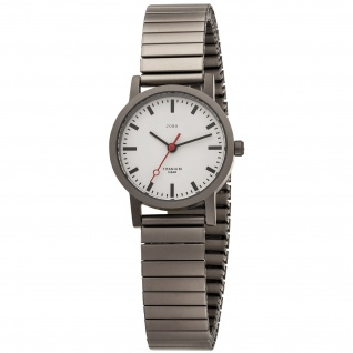 JOBO Damen Armbanduhr Quarz Analog Titan mit Flexband