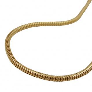 Armband 2mm Schlange rund glatt glänzend vergoldet AMD 19cm