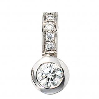 Anhänger 585 Gold Weißgold 6 Diamanten Brillanten 0, 20ct. Weißgoldanhänger